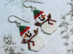 Beaded Earrings Patterns, Seed Bead Patterns, Beading Patterns, Bracelet Patterns, Stitch Patterns, Seed Bead Jewelry, Seed Bead Earrings, Etsy Earrings, Seed Beads