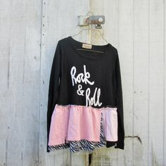 ROCK and ROLL upcycled clothing / romantic cropped by CreoleSha