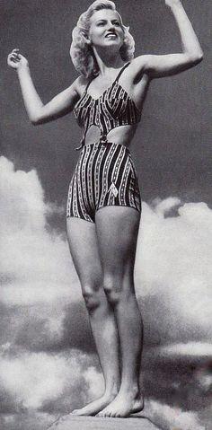 1940's vintage bathing suit/ bikini. 1941