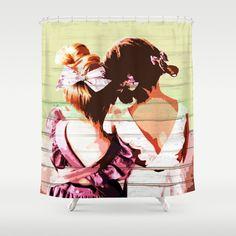 Shower Curtain by dimitratsiouma Girl Friendship, Bathroom Curtains, Hugs, Shower, Stuff To Buy, Products, Big Hugs, Rain Shower Heads, Showers