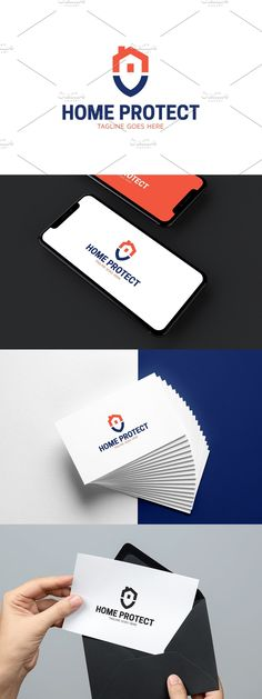 Color Text, Security Companies, Home Protection, Property Design, Logo Design Template, Alarm System, Simple House, Smart Home, Commercial