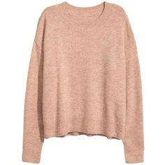 H&M Oversized Sweater $12.99 ❤ liked on Polyvore featuring tops, sweaters, ribbed sweater, h&m tops, h&m sweaters, red sweater and oversized tops