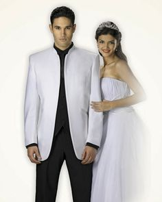 White Mirage Tuxedo Prom, Wedding, Tip Top Tux