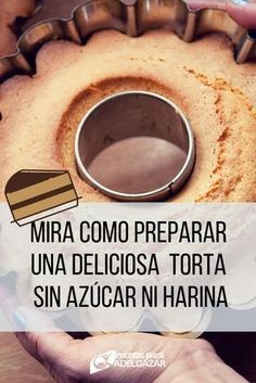 Delicious and healthy cake without flour or sugar - We love to eat healthy, but we can& help feeling tempted to eat sweet once in a while. Healthy Cake, Healthy Sweets, Healthy Eating, Healthy Recipes, Tortas Light, Cure Diabetes Naturally, Pan Dulce, Sin Gluten, Sweet Recipes