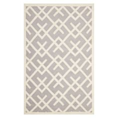 Safavieh Hand-woven Moroccan Reversible Dhurrie Grey/ Ivory Wool Rug x - Overstock™ Shopping - Great Deals on Safavieh - Rugs Dhurrie Rugs, Target Rug, Textiles, Geometric Patterns, Geometric Rug, Fabric Patterns, Contemporary Rugs, Modern Rugs, Grey Rugs
