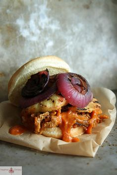 Hawaiian Pulled Pork Sandwich Perfect for Tailgating!