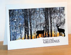 Nouvelle collection 'Especially for You' 2015 de Penny Black Snowy grove Penny Black Cards, Penny Black Stamps, Christmas Artwork, Christmas Drawing, Christmas Images, Watercolor Christmas Cards, Watercolor Cards, Christmas Cards To Make, Xmas Cards