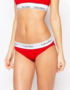 5b05ff9446775 Calvin Klein Red Modern Cotton Brief Calvin Klein Bikinis