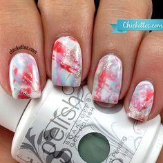 Chickettes.com Brushstroke Nails using Gelish
