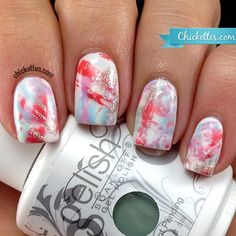 http://Chickettes.com Brushstroke Nails using Gelish  | See more at http://www.nailsss.com/acrylic-nails-ideas/3/