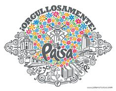 Orgullosamente Paisa Chic Bridal Showers, Graphic Design Inspiration, American Art, Logo Design, Wallpaper, Logos, Illustration, Cards, Poster