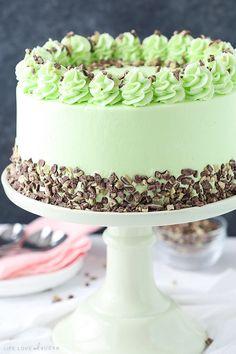 Mint Chocolate Chip Layer Cake