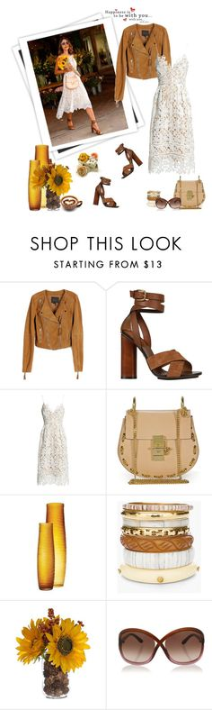 """Lace dress"" by murenochek ❤ liked on Polyvore featuring GALA, Paige Denim, Gucci, Sans Souci, Chloé, Chico's, Tom Ford, Summer, lace and summerstyle"