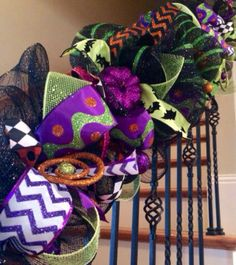Deluxe Halloween Garland Halloween Decoration by AllMeshedUp2014