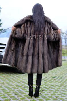 NEW BARGUZIN RUSSIAN SABLE FUR SWINGER COAT CLAS JACKET MINK FOX LYNX CHINCHILLA
