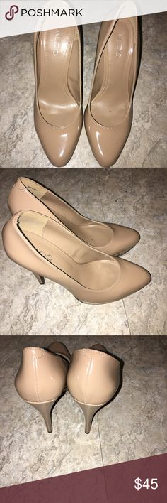 ALDO NUDE PUMP! Beautiful Aldo nude pump, great Condition, worn a few times, '5 inch heel, must buy! Aldo Shoes Heels