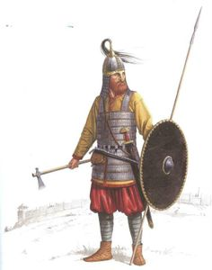 10th C. Birka Viking, possibly in Russia, judging by his armour.