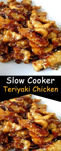 Serve this Slow Cooker Teriyaki Chicken over rice, you don't want any of that delicious, sticky sauce going to waste. And because we are all trying to be healthier this time of year make sure to serve lots of fresh. Crock Pot Recipes, Meat Recipes, Slow Cooker Recipes, Cooking Recipes, Freezer Recipes, Freezer Meals, Drink Recipes, Cooking Tips, Slow Cooker Huhn
