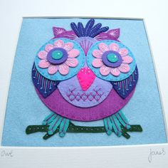 This would make a cute purse Felt Owl Felt Owls, Felt Animals, Felt Birds, Owl Applique, Embroidery Applique, Felt Pictures, Felt Fabric, Fabric Owls, Felt Decorations