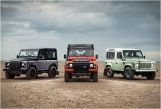 LAND ROVER DEFENDER CELEBRATION SERIES: If I ever win the lottery, the mint greeen one is MINE ;)
