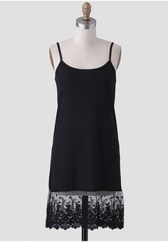 Sweet Lace Full Slip In Black | Modern Vintage Under $50 | Modern Vintage Dresses | Modern Vintage Clothing