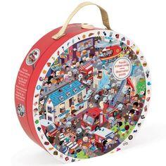 Képkereső tűzoltó puzzle bőröndben - 208 db Janod