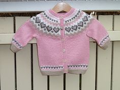 Ravelry: Baby Annabell pattern by Trine Lise Høyseth Fair Isle Knitting Patterns, Baby Cardigan Knitting Pattern, Knitting Baby Girl, Knitting For Kids, Baby Patterns, Ravelry, Knit Crochet, Sweaters, Pie Bars