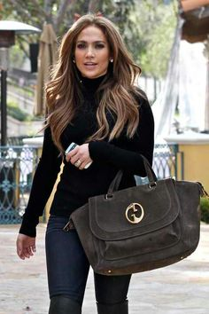 JLo with her Gucci bag