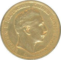 Prussia 1902,20 M. Wilhelm II., A, gold (troy weight 7, 17), ss / vz    Dealer  Hettinger Auctions    Auction  Minimum Bid:  200.00EUR