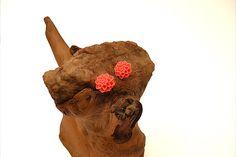 Coral flower stud earrings by Jewelrybydawn1 on Etsy, $8.00
