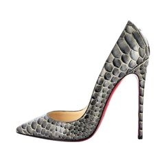 Christian Louboutin 2013  Every girl should have a pair of snakeskin pumps! ;)