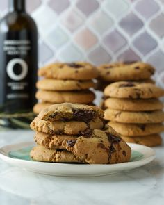 Dark Chocolate Cookies with Olive Oils from Spain