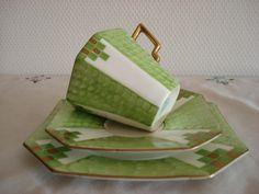 Trio Art Deco England      Inf- 1530144082 retroteaandcoffee@gmail.com Face; Retrotea andcoffee