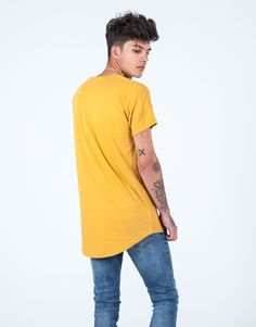 Camiseta básica regular fit amarillo JVZ. Moda Online, Mens Tops, T Shirt, Fashion, Dress Shops, Young Fashion, Yellow, Pants, T Shirts