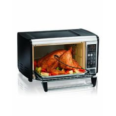 Discount 28%#Hamilton Beach Set & Forget Toaster Oven with Convection Cooking