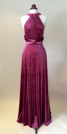 Bridesmaid dress prom dress infinity dress mauve by Valdenize