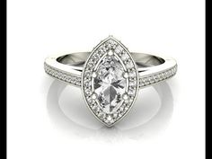 Marquise vintage diamond ring VR1037