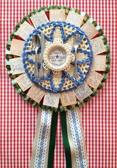 Cathe Holden--darling vintage recipe card wreath