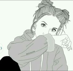 Risultati immagini per dessin de fille Tumblr Outline, Outline Art, Outline Drawings, Cute Drawings, Drawing Sketches, Outline Images, Girl Drawings, Drawing Art, Drawing Ideas