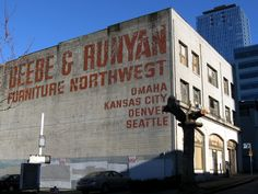 Beebe & Runyan ghost sign, Seattle