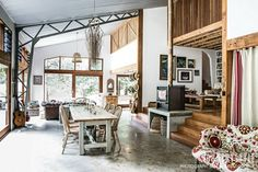 Country Style magazine. Visit the home that Jelle and Freya Hilkemeijer, of the very popular Berry Sourdough Cafe and nearby homewares shop The Picnic Shed, have created in what was once a disused farm building. Photographs Sam McAdam-Cooper Styling Leesa O'Reilly #countrystylehome #countrystyle