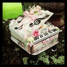 Piano made from Chipboard - Scrapbook.com