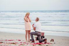 Congratulations to Marissa and Jordan! The moment before she said yes! #josephkjewelers #engagementring #engagement #ring #halo #cushionhalo #rosegold #rosepetals #roundbrilliant #gia #beach #pnw #sand #romantic #proposal #shesaidyes #ido #reflection #photoshoot #inspiration #proposalideas