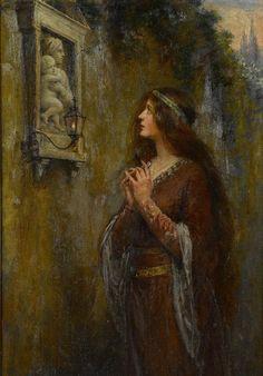 """The Shrine"" - Jennie Augusta Brownscombe"