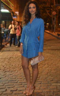 Sexy blue dress (Debora Nascimento)