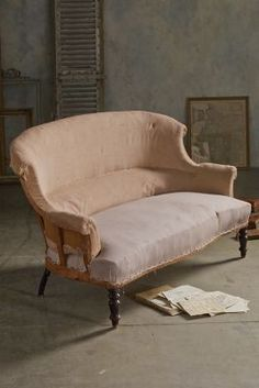 Napolean II Scroll Back Settee from Soft Surroundings
