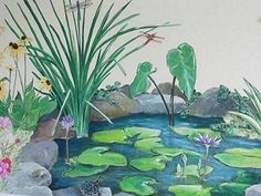 1000 images about mural on pinterest murals wall for Duck pond mural