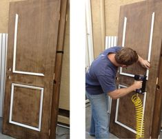 Add molding to old slab doors making them new and saving tons of money. #Add #Doors #making #molding #Money #saving