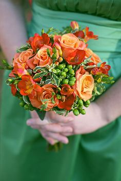 emerald and orange wedding schemes - Google Search