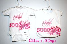 Chloe's Wings: Baby Items    Super cute, local, custom embroidery and designs!